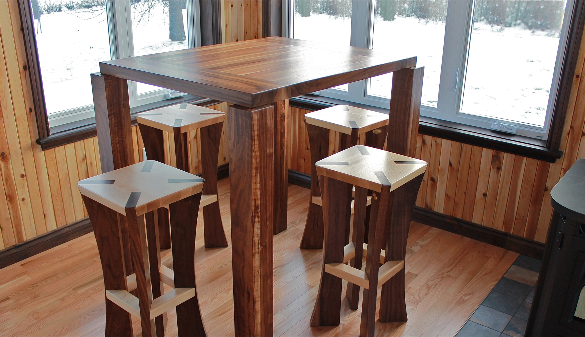 Ensemble table bistro en bois
