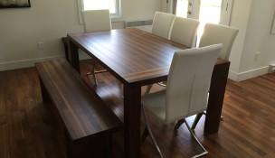 Table en bois rectangle ajustée