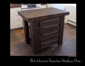 nos albums photos de meubles en bois signature st phane dion. Black Bedroom Furniture Sets. Home Design Ideas
