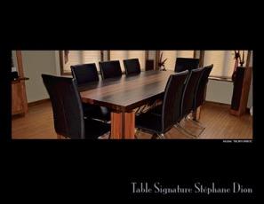 Catalogue de tables et bureaux en bois