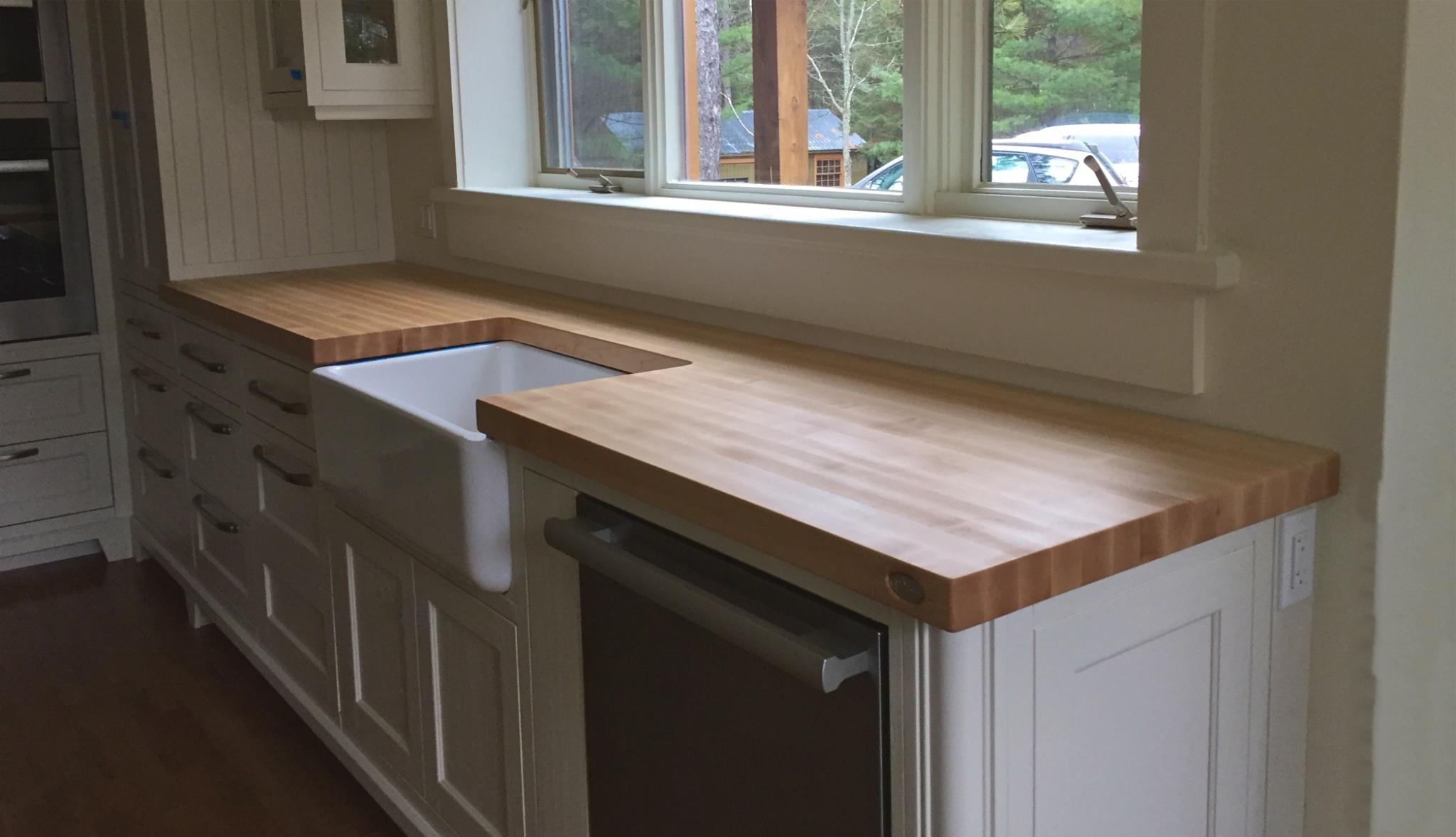 Comptoirs en bois signature st phane dion - Type de comptoir de cuisine ...