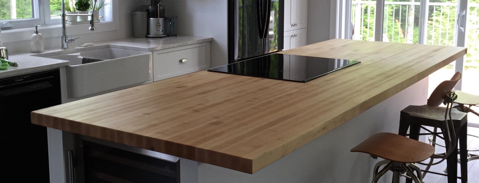 Table Comptoir Bloc De Boucher Et Ilot En Bois Massif