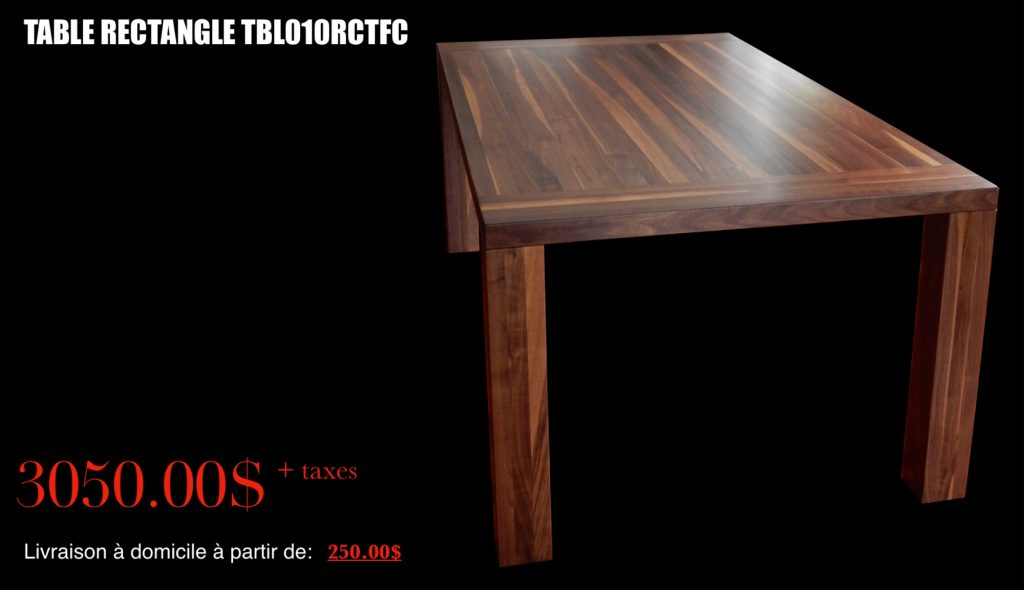 Table Rectangle Noyer
