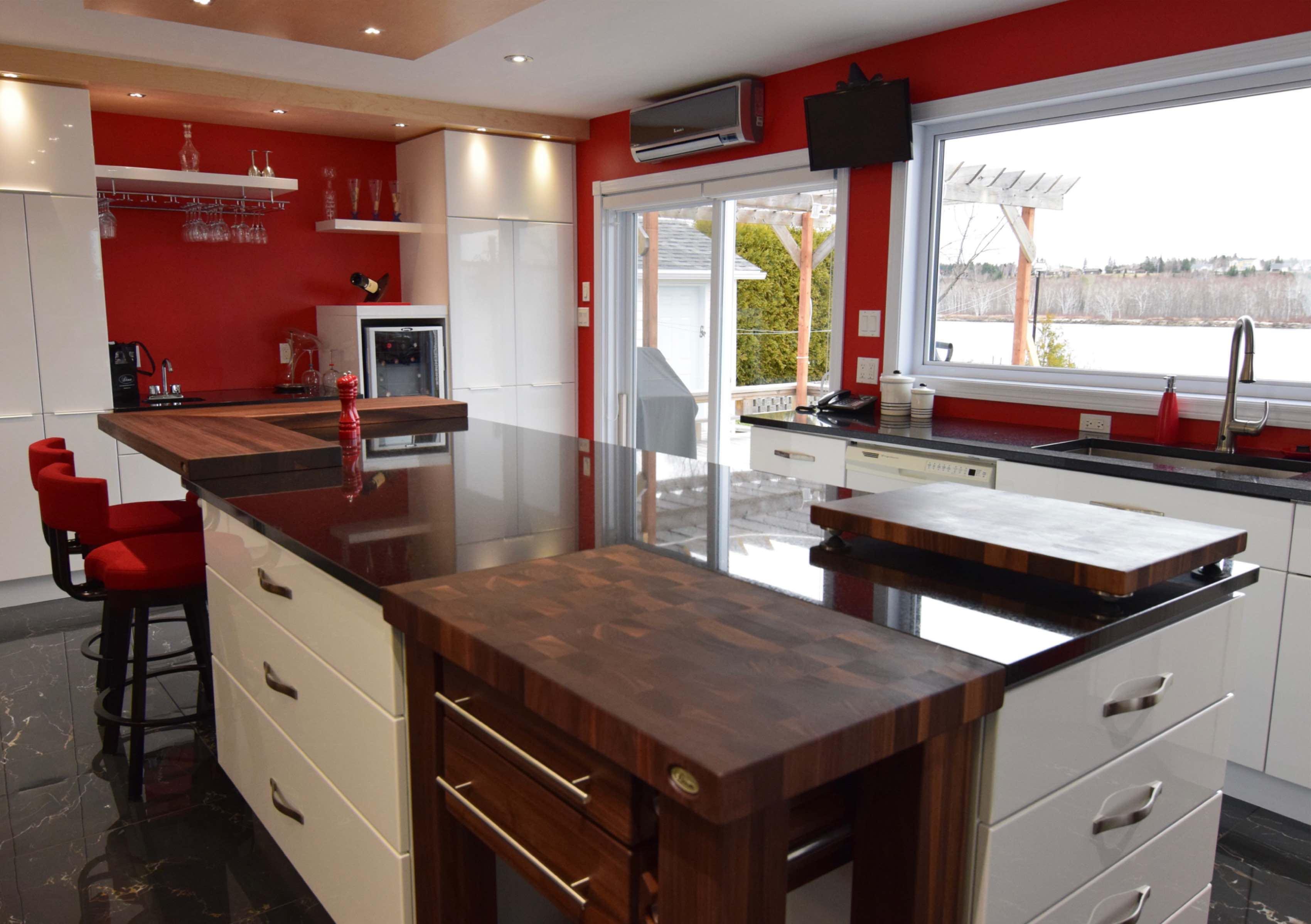 Meuble Pour Ilot Cuisine table en bois, comptoir, bloc de boucher et ilôt de cuisine