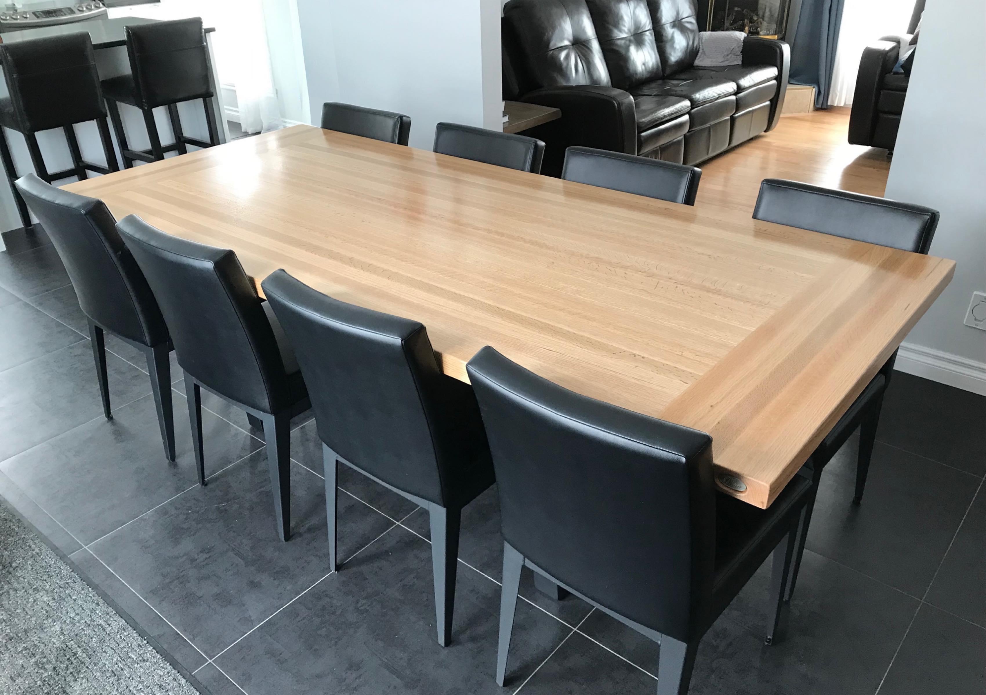 Table En Bois Comptoir Bloc De Boucher Et Ilot De Cuisine